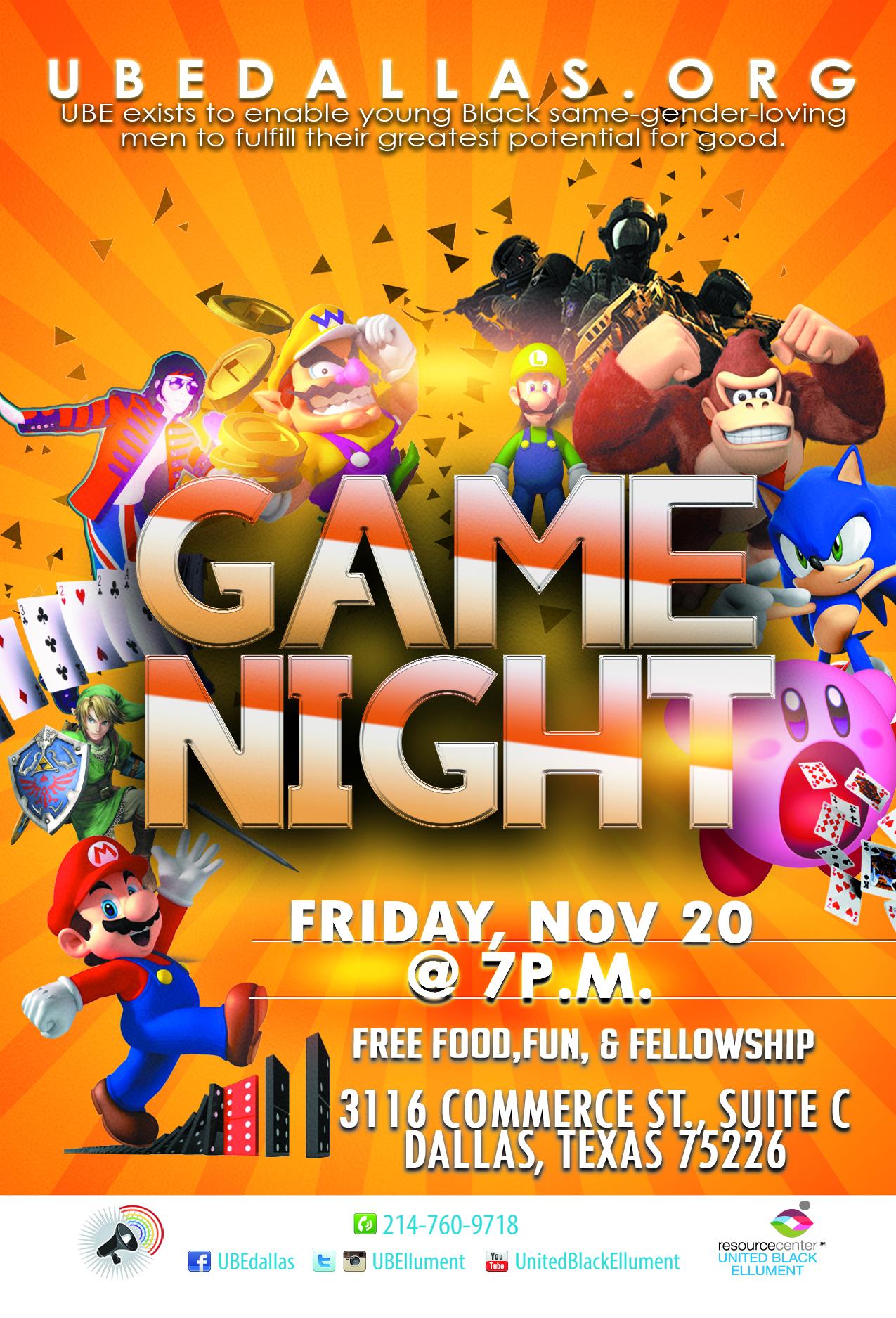 GAME NIGHT 11.20
